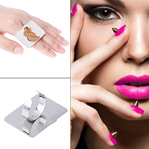 Demiawaking Farbe Make-up-Palette Edelstahl kleine quadratische Ring Mini