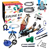 Zipline Kit - Zipline Kits For Backyard Zipline Kit For Kids And Adults, 120ft Zip Line Kit With Brake, Safety Harness, Zipline Kit With Seat, Backyard Zipline For Kids, Zip Lines for Kids Outdoor