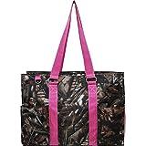 N Gil All Purpose Organizer Medium Utility Tote Bag II (Camo Hot Pink)