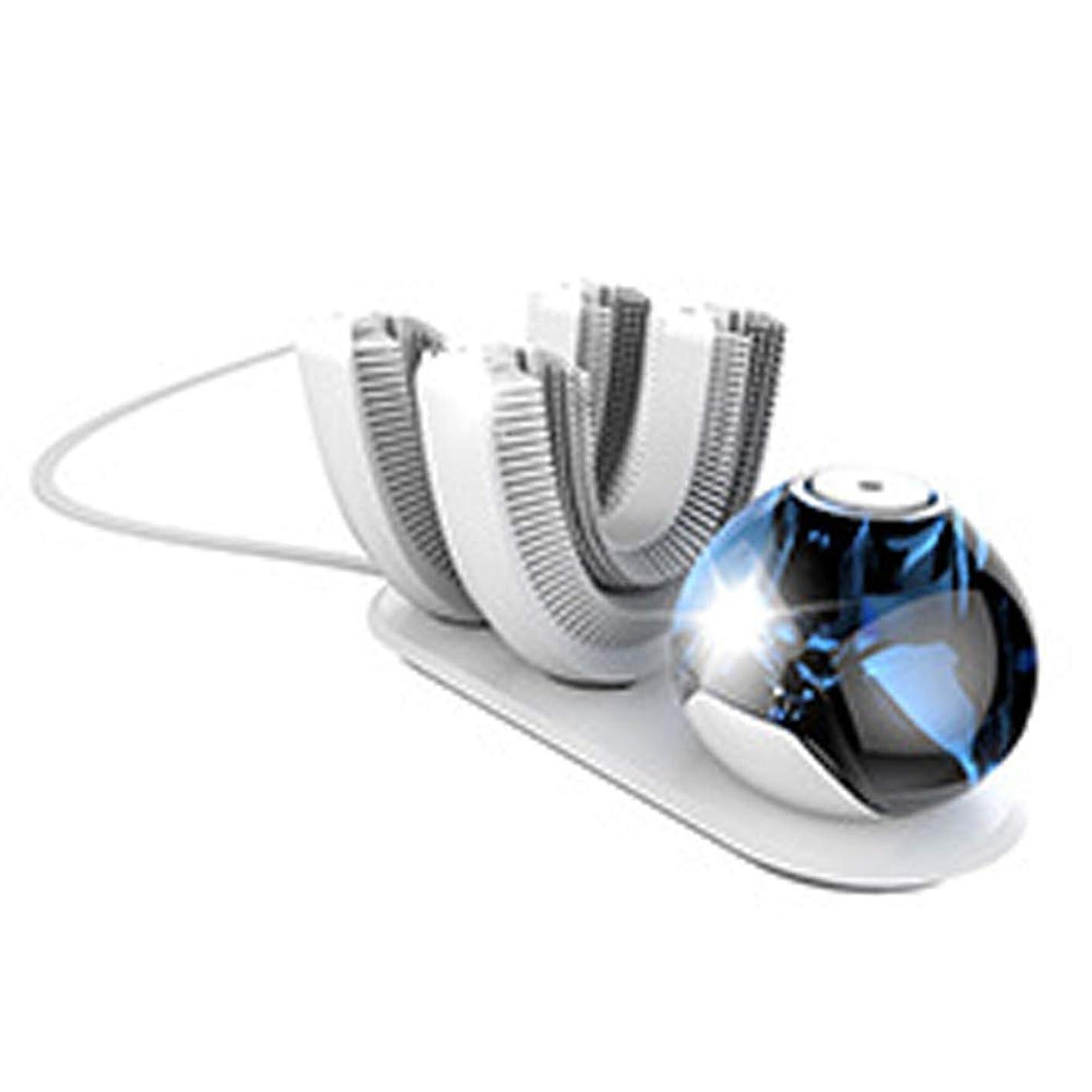 ぼろデュアルリングレット電動歯ブラシ、U字型歯ブラシの頭、超音波歯ブラシ、ワイヤレス充電音波歯ブラシ、防水IPX7
