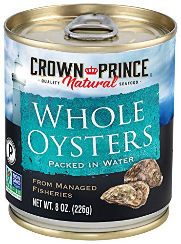Crown Prince Natural Whole Boiled Oysters, 8-Ounce...