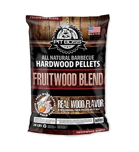 PIT BOSS 55246 20lb Fruitwood Wood Pellets, Brown