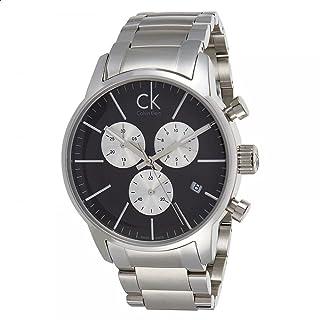 Calvin Klein Men's Black Dial Stainless Steel Band Watch - K2G2714X