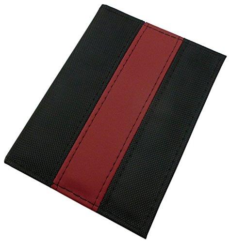 Ausweisetui/Ausweishülle/Kreditkartenetui/Fahrzeugschein in 3 Farben (Schwarz/Rot)
