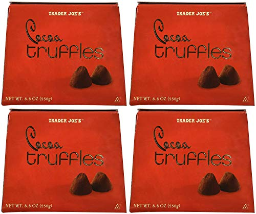 Trader Joes Cocoa Truffles....8.8 Oz. Box Pack of 4