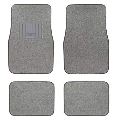 Sumex PLUSH01 Alfombra para Coche Universal de Moqueta, de Color Gris, Antideslizante y Talonera Reforzada,