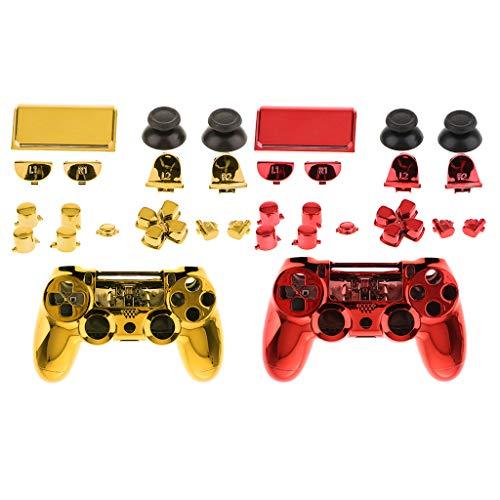 F Fityle 2x Coque De Protection Etui Complet Pour Sony PS4 Pro Kit De Boutons De Contrôle Sans Fil Tout-en-un