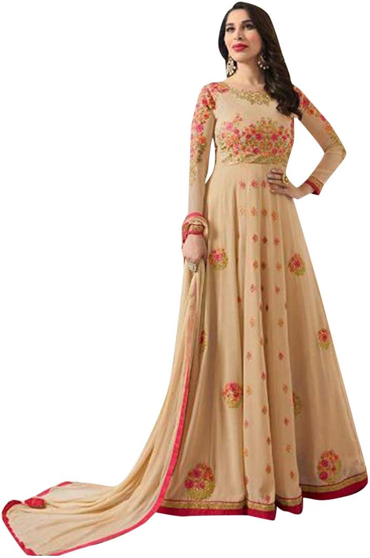 Ethnic Designer Anarkali suit Embroidery Festive Navratri Karva Chauth Diwali Bespoke Tailoring Available 7223 1