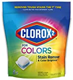 Product Image of the Clorox 2 for Colors Stain Remover and Color Brightener Packs, 20 Count, Pack of 6 (Package May Vary)