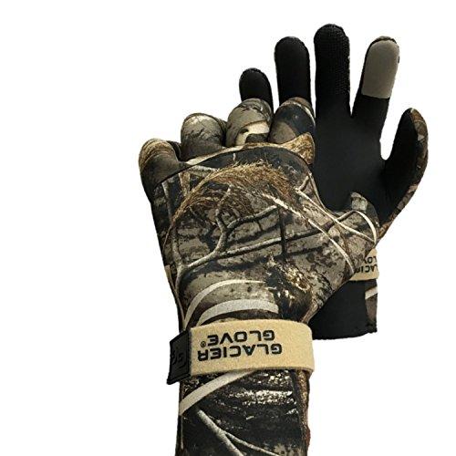 Glacier Glove Pro Waterfowler Waterproof Neoprene Gloves, Max 5, Large (824MA L-1)