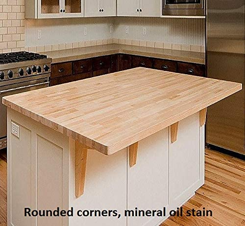 Amazon Com Allwood 1 5 X 36 X 72 Birch Table Counter Island Top See All Edge Options Sharp Edges No Routing Furniture Decor