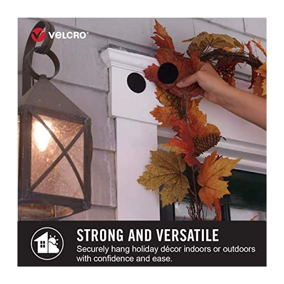VELCRO Brand Industrial Fasteners Stick-On Adhesive | Professional Grade Heavy Duty Strength | Indoor Outdoor Use, 1 7… 5 Professional grade adhesive. Unmatched versatility. Ultimate tool for organization, mounting, hanging, storing and much more. Our tape will adhere to almost all surfaces! It is even water resistant. Use it indoor and outdoor. This Industrial Strength Sticky Back tape is designed for tough applications. Stronger adhesive, longer lasting and more durable than other brands
