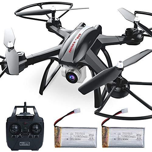 LOGO Fernbedienung Flugzeug Großer Tropfen festen Quadcopter Drone Luft HD Kampfflugzeuge Hubschrauber-Spielzeug-35CM Feste Upgraden Höhe Version Schwarz WiFi Echtzeit-Übertragung 1 Million Pixel Geei