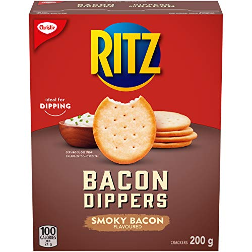 Christie Ritz Bacon Dippers Crackers, 200g/7.1 oz {Imported from Canada}