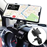 Zylee Car Phone Holder Mount, Upgraded Cell Phone Holder for Car Dashboard Phone Holder 360 Degree Rotation Dashboard Car Mount Cell Phone Clip for Car (Black)