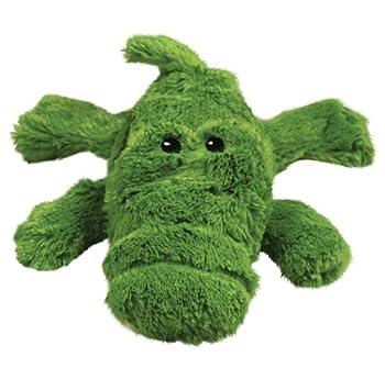 KONG Cozie Ali the Alligator Medium Dog Toy Green  2 Pack