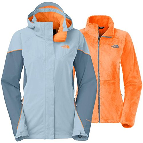 North Face Medium WMNS Boundary Triclimate Jacket Tofino Blue/Cool Blue/Orange