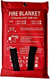 Victosoaring Emergency Survival Fiberglass Fire Blanket Shelter Safety Cover Ideal for The Kitchen, Fireplace, Grill, car, Camping (78x78 in)