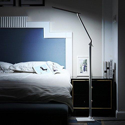 LWDED Instelbare led-oogbescherming, staande lamp, touch-bediening, drie kleuren, vijf helderheid, creatieve verticale lampen, inklapbare vloerlamp