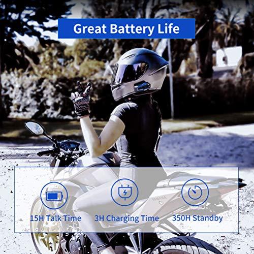 LEXIN B4FM 2X Motorrad Bluetooth Headset, Helm Intercom Geräuschreduzierung, Kommunikationssystem für Motorräder, Freisprechanlage bei Motorradfahren und Skifahren - 3