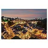 artboxONE Poster 30x20 cm Städte Luxemburg am Abend - Bild