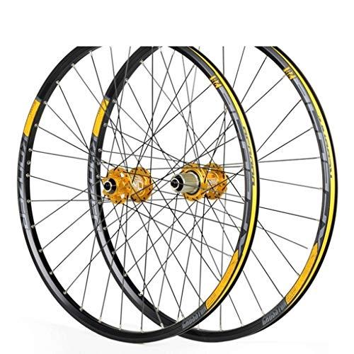 WWL Ruedas Ciclismo Freno Disco Liberación Rápida Juego Ruedas 26'27,5' Rueda Delantera Trasera BMX 7,8,9,10,11 (Color : B, Size : 26inch)