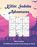 Killer Sudoku Adventures: 500 Sum Sudoku puzzles for adults (easy to hard)