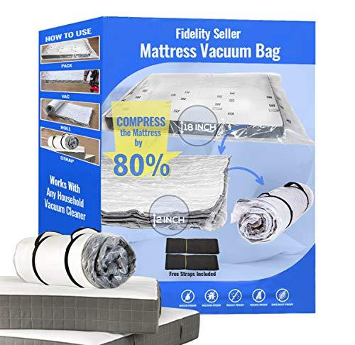 Queen-Matratzen-Vakuumbeutel für den Umzug der Matratze auf einen Bruchteil ihrer Größe, funktioniert mit den meisten Haushalts-Staubsaugern, Matratzentasche (Queen/FullXL/Full)