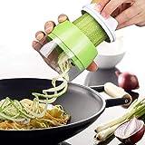 LJD De Mano de Verduras Espiral máquina de Cortar del Cortador, Vegetales Spiralizer 4-en-1 Ajustable del rallador Zanahoria Pepino Calabacín Calabacín del Espagueti