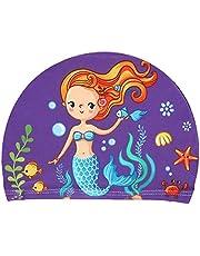 ruiruiNIE Niños Bebé Gorro de Natación de Dibujos Animados Lindo Estampados de Animales Impermeable Proteger Orejas Poliéster Suave Unisex Swim Accesorio