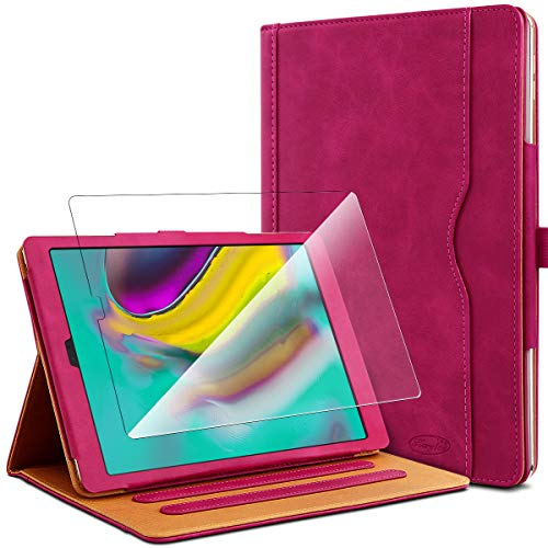 KARYLAX Pack of Protective Case in Pink + 1 Tempered Glass Screen Protector for Samsung Galaxy Tab S5e 10.5 SM-T720