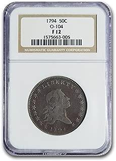 1794 Flowing Hair Half Dollar Fine-12 NGC (O-104) Half Dollar F-12 NGC