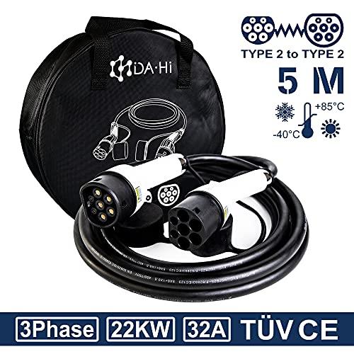 DA Hi Cable de Carga para vehículos eléctricos e híbridos Tipo 2...