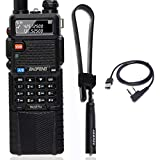 BaoFeng DM-5R Plus DMR Dual Time Slot Digital (DMR and Analog) Two-Way Radio Compatible with MOTOTRBO+ USB Programming Cable +Tactical Antenna