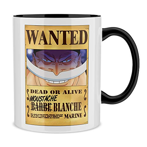 Okiwoki Mug Noir One Piece parodique Edward Newgate - Barbe Blanche : Le Wanted Secret. : (Parodie One Piece)