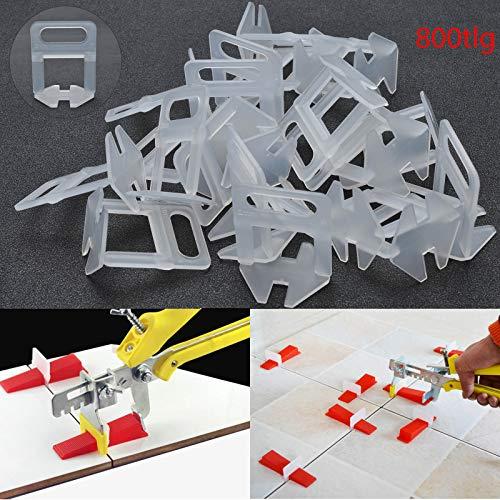 YORKING 800St Nivelliersystem Zuglaschen Fliesen 2 mm Verlegehilfe Laschen