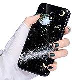 Surakey Coque Galaxy J5 2017 Coque Silicone Paillette Brillante Glitter Planète...