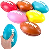 Liberty Imports 6 Pack Foam Footballs for Practice Training, Kids Toy, Yard Game, Indoor Outdoor Sports Play (7.5')