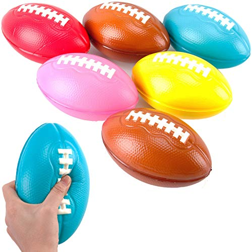 liberty imports kids games Liberty Imports 6 Pack Foam Footballs for Practice Training, Kids Toy, Yard Game, Indoor Outdoor Sports Play (7.5