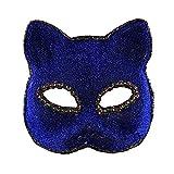 Photo de Pigeon Fleet Halloween Fox Masque nouveauté Masque Halloween Mardi Gras Costume Accessoires, Bleu