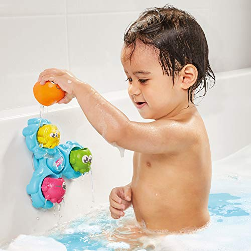 TOMY E72820C Spin & Splash Toomies Octopus Bath Toy for Water Play Suitable for 1, 2, 3 & 4 Year Olds Girls & Boys, Multicoloured