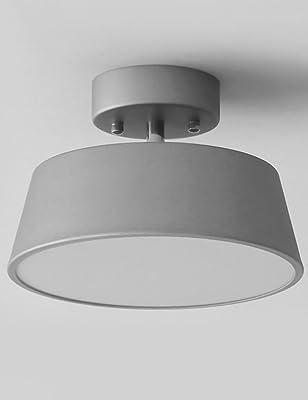 Trio - Plafón con 2 luces, E14, pantalla de algodón blanco ...