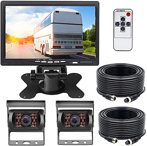 Telecamera Retromarcia Per Auto,7 Pollici Vista Frontale Telecamera per Retromarcia,Telecamera per Visione Notturna IR, Impermeabile Telecamera Retromarcia per Veicoli di Grandi Dimensioni