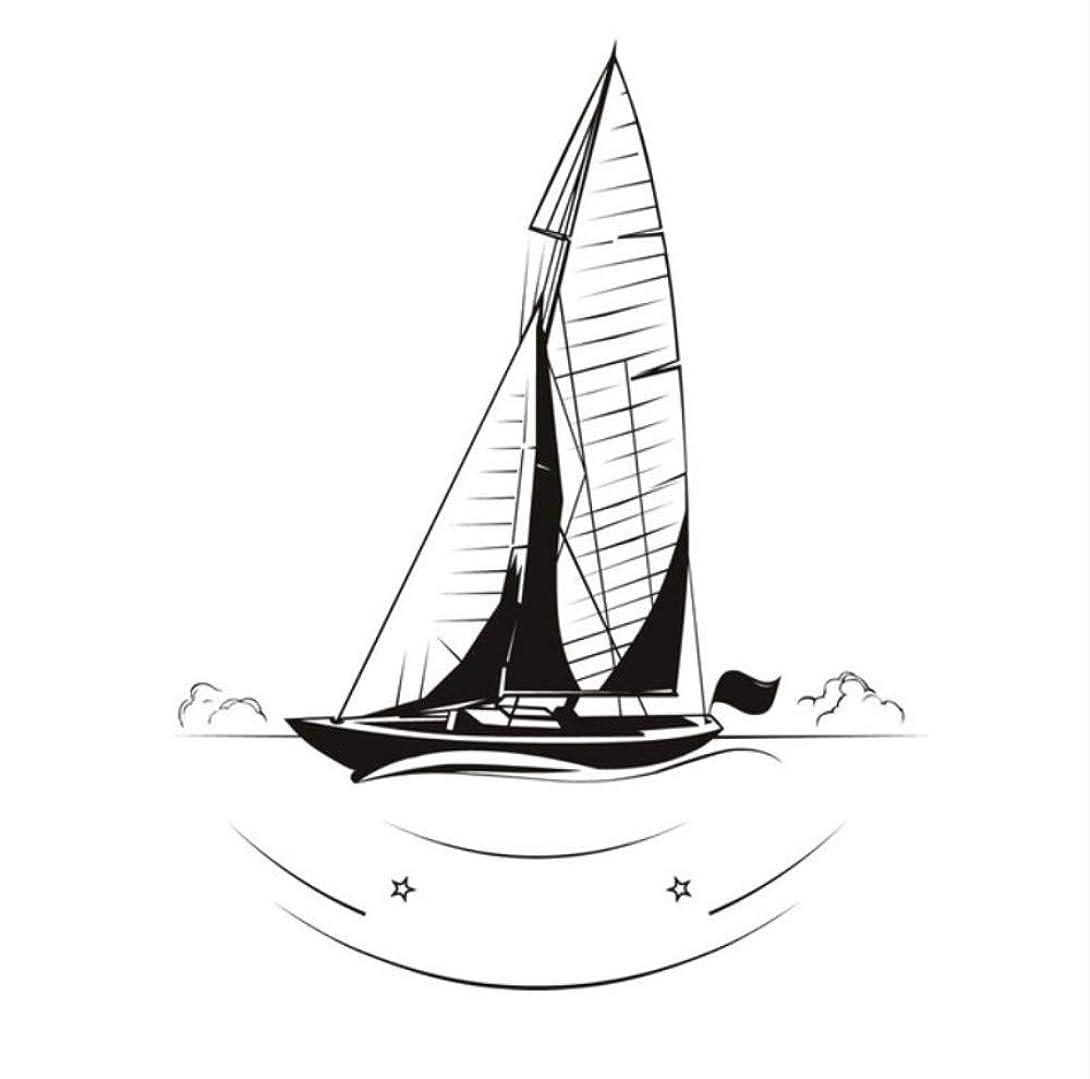 メンター以上福祉Mingld 人気の風景ウォールステッカーリビングルーム装飾航海ヨット壁デカールビニール取り外し可能なDiyの家の装飾44×55センチ