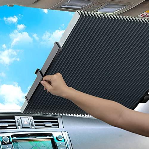 SOSU 車用サンシェード 折り畳み式 車用 日よけ サンシェード 車 遮光 断熱 フロントサンシェード フロントガラス用 取付け簡単 収納便利 プライバシーを保護する 各車類対応…
