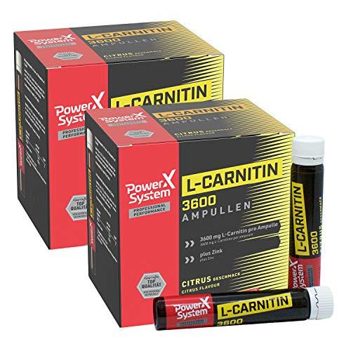 Power System L-Carnitin Liquid Ampullen - 3600mg (Citrus, 40 x 25ml)