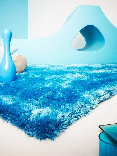 Colourcourage Shaggy Teppich by Contzen Estero Blau 250x300 cm