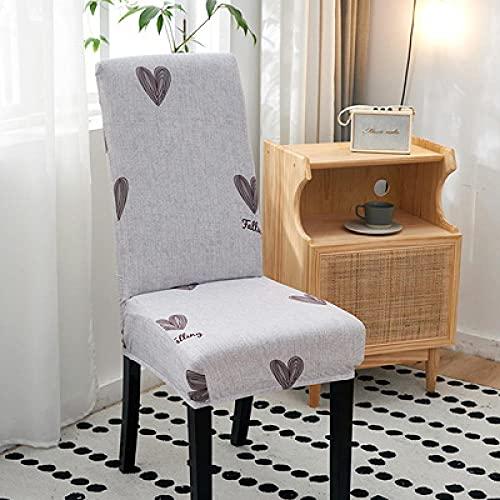 NNGZ Stuhlbezige Stretch Spandex Elastic Chair Schonbezug Fall Stretch Stuhlbezug Für Hochzeit Hotel Banqu J. 6 Stück