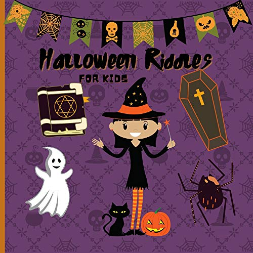 Halloween Riddles For Kids: A to Z Fun I spy Alphabet Activity Spooky Scary Pumpkin,witch,Boo Ghost,Bat - Guessing Game Halloween Gift Idea For Little ... & Kindergarteners (English Edition)