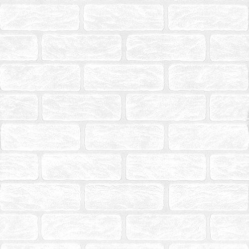Superfresco obraz cegła efekt biała tapeta